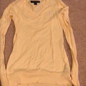 Volcom light weight yellow v-neck sweater